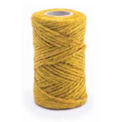 Sznurek jutowy - żółty - 100g/50m
