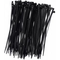 Opaski zaciskowe, trytytki, zipy - 300 x 4,8 mm - czarne - 100 szt.