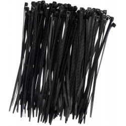 Opaski zaciskowe, trytytki, zipy - 100 x 2,5 mm - czarne - 100 szt.