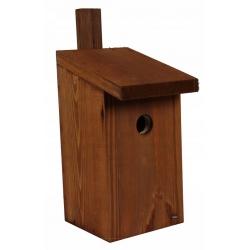 Budka lęgowa dla ptaków - sikorek, mazurków i muchołówek - brązowa