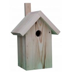 Budka lęgowa dla ptaków - sikorek, wróbli i kowalików - surowa