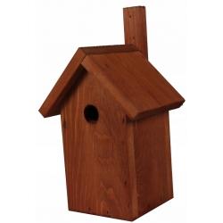 Budka lęgowa dla ptaków - sikorek, wróbli i kowalików - brązowa