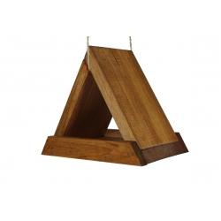 Karmnik dla ptaków - trójkątny - brązowy