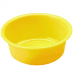 Miska okrągła - śr. 24 cm - żółta