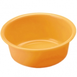 Miska okrągła - śr. 16 cm - pomarańczowa