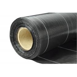 Agrotkanina czarna na chwasty - grubsza niż agrowłóknina - 0,40 x 100,00 m