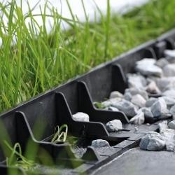Obrzeże trawnikowe - Border - 4,8 m - czarne