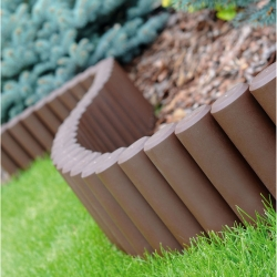 Wysoka palisada ogrodowa 2,7 m - brązowa