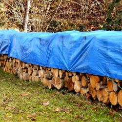 Plandeka - 6 x 10 m - niebieska