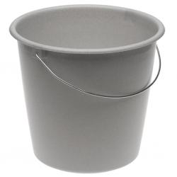 Wiadro z uchwytem metalowym - 10 litrów - granitowe