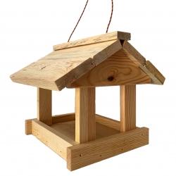 Karmnik dla ptaków - klasyczny do powieszenia - surowy