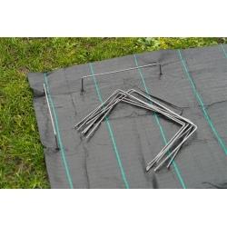Szpilki do przytwierdzenia włóknin, folii, plandek i mat do podłoża - 20 x 12 cm - 10 szt.
