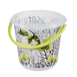 Wiadro z dekoracyjnym motywem - Ilvie - 10 litrów - wiosenne liście