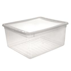 Pojemnik z pokrywą - Bea - 18 litrów - transparentny