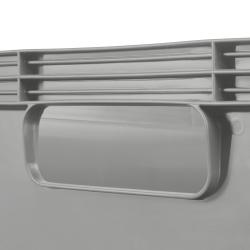 Pojemnik transportowy - Robert - 45 litrów - jasnopopielaty