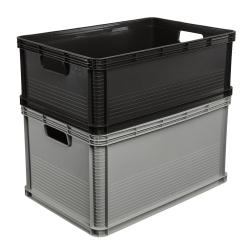 Pojemnik transportowy - Robert - 45 litrów - grafitowy