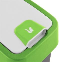 Kosz na śmieci z naciskaną pokrywą - Magne - 10 litrów - zielony
