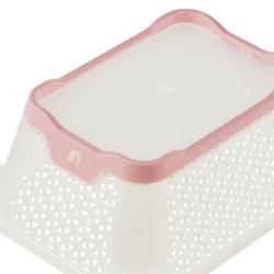 Koszyk z funkcją antypoślizgową - Jonas A7 - perłowy róż
