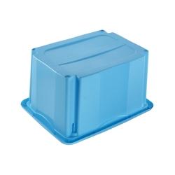 Skrzynka obrotowa z pokrywą - Emil i Emilia - 15 litrów - niebieska