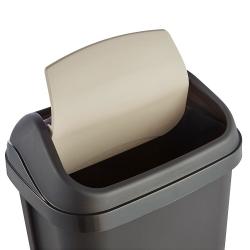 Kosz na śmieci z obrotową pokrywą - Swantje - 10 litrów - grafit