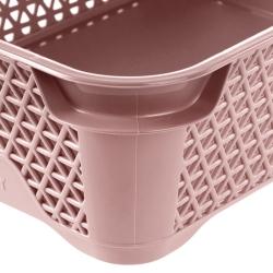 Koszyk do przechowywania A6 - perłowy róż