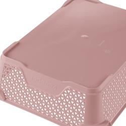 Koszyk do przechowywania A5 - perłowy róż