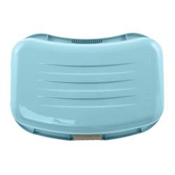 Ergonomiczna wanna na pranie z miękkimi uchwytami - Janne - wodny niebieski