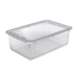 Pojemnik z pokrywą - niski - Bea - 30 litrów - transparentny