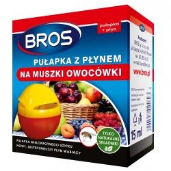 Pułapka z płynem przeciw muszkom owocówkom - BROS