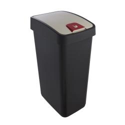 Kosz na śmieci z naciskaną pokrywą - Magne - 45 litrów - grafitowy