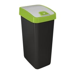 Kosz na śmieci z naciskaną pokrywą - Magne - 45 litrów - zielony
