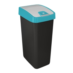 Kosz na śmieci z naciskaną pokrywą - Magne - 45 litrów - niebieski