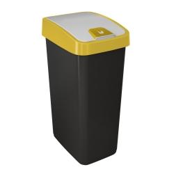 Kosz na śmieci z naciskaną pokrywą - Magne - 45 litrów - żółty capri