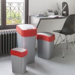 Kosz do sortowania śmieci Flip Bin - 10 litrów - czerwony