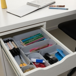 Organizer do szuflady - Infinity M - 0,7 litra - jasny szary