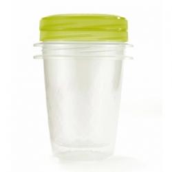 Zestaw 2 zakręcanych pojemników na żywność - Take Away Twist - 1 litr - zielony