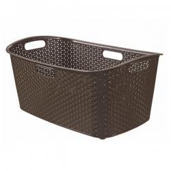 Kosz na pranie My Style - 47 litrów - ciemny brąz