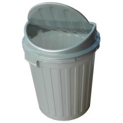 Pojemnik na śmieci - Mini-Swing - 7 litrów - jasnosrebrny