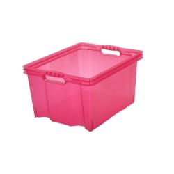 Pojemnik do przechowywania - Multi-Box - rozmiar XL - różowy transparentny