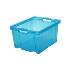 Pojemnik do przechowywania - Multi-Box - rozmiar XL - niebieski transparentny