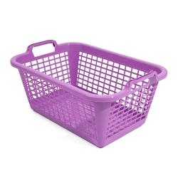 Kosz prostokątny na pranie - 60 x 43 cm - fioletowy