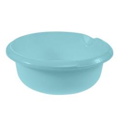 Miska okrągła z wylewką - śr. 28 cm - wodny niebieski