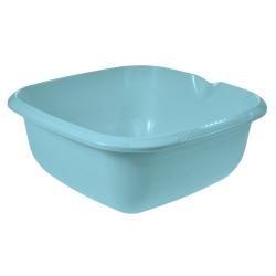 Miska kwadratowa z wylewką - 38 x 38 cm - wodny niebieski