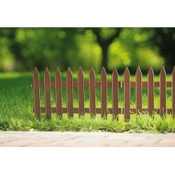 Płotek ogrodowy - 27 cm x 3,2 m - brązowy