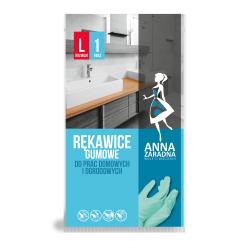 Rękawice gumowe - do prac domowych i ogrodowych - rozmiar L