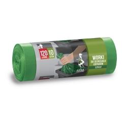 Worki na śmieci do segregacji odpadów zielone - SZKŁO - 120 litrów - 10 szt.