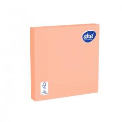 Serwetki papierowe - 33 x 33 cm - AHA - 100 szt. + 20 szt. GRATIS - łososiowe