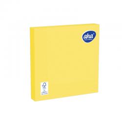 Serwetki papierowe - 33 x 33 cm - AHA - 20 szt. - żółte