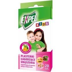 Kids - Plasterki dla dzieci łagodzące ukąszenia komarów - Expel - 20 szt.