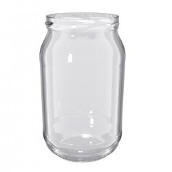 Słoje zakręcane szklane, słoiki - fi 82 - 900 ml - 8 szt.